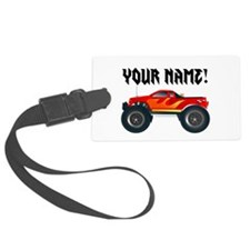 Red Monster Truck Personalized Luggage Tag