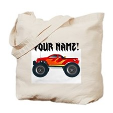 Red Monster Truck Personalized Tote Bag