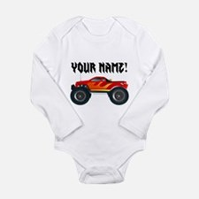 Red Monster Truck Personalized Long Sleeve Infant