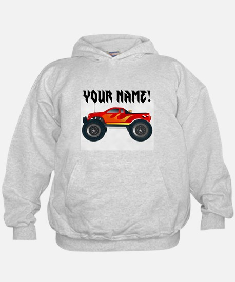 Red Monster Truck Personalized Hoodie