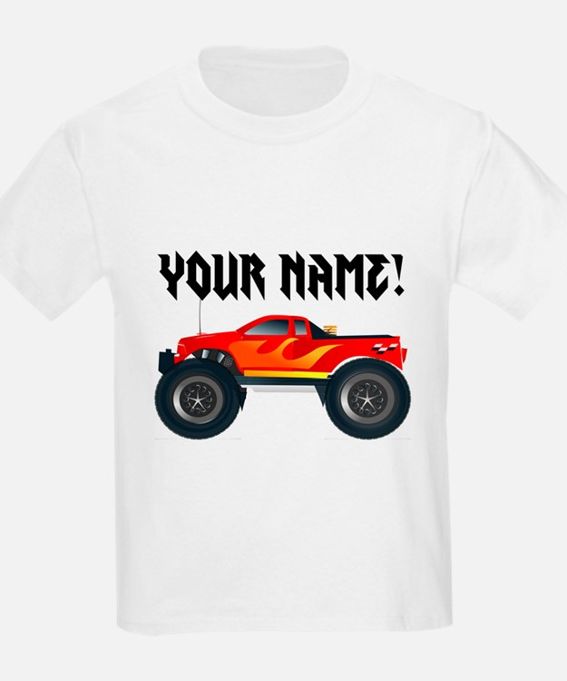 Red Monster Truck Personalized T-Shirt