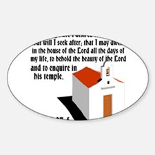 House of the Lord Sticker (Oval)
