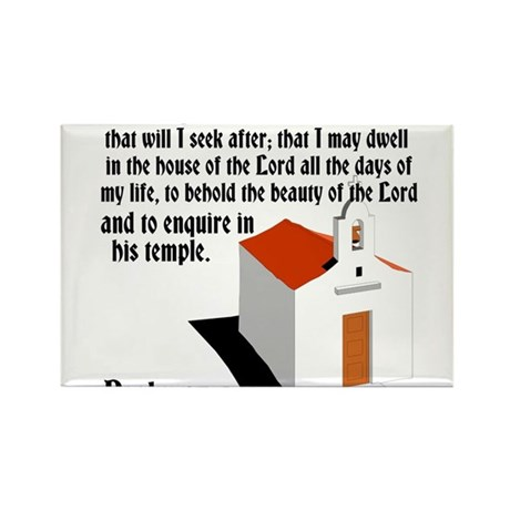 House of the Lord Rectangle Magnet (100 pack)