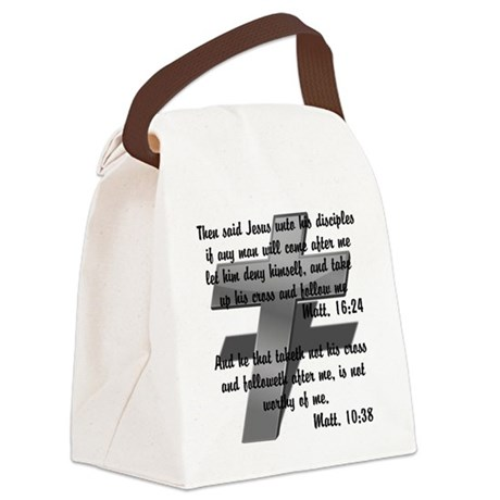 Take your Cross Canvas Lunch Bag