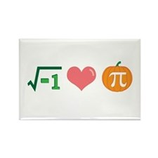 i Love Pumpkin Pi -- Rectangle Magnet
