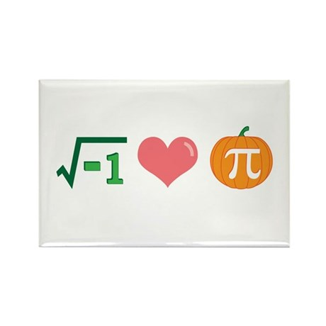 i Love Pumpkin Pi -- Rectangle Magnet