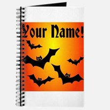 Personalized Halloween Bats Journal