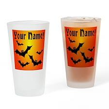 Personalized Halloween Bats Drinking Glass