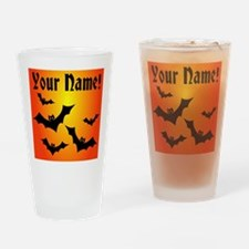 Personalized Halloween Bats Drinking Glass