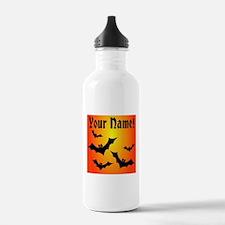 Personalized Halloween Bats Water Bottle
