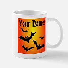 Personalized Halloween Bats Mug
