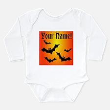 Personalized Halloween Bats Long Sleeve Infant Bod
