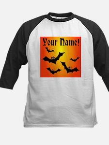 Personalized Halloween Bats Kids Baseball Jersey