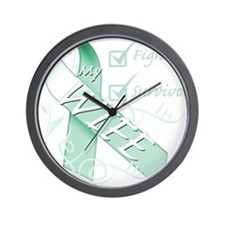 Wife is a Fighter and Survivor.png Wall Clock