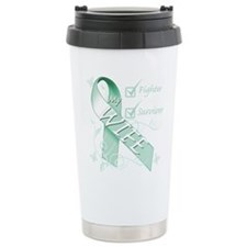 Wife is a Fighter and Survivor.png Travel Mug