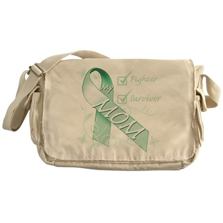 Mom is a Fighter and Survivor.png Messenger Bag