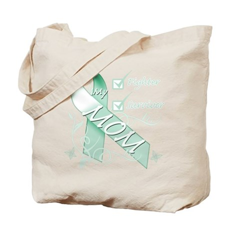 Mom is a Fighter and Survivor.png Tote Bag