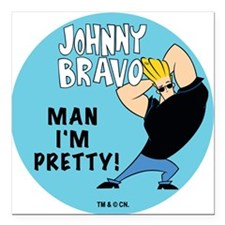 "johnnymanimpretty.png Square Car Magnet 3"" x 3"""