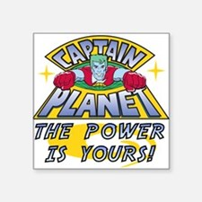 "CAPTAINPLANETPOWER.png Square Sticker 3"" x 3"""