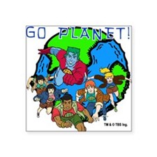 "GOPLANET.png Square Sticker 3"" x 3"""