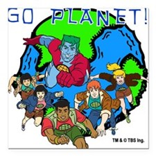 "GOPLANET.png Square Car Magnet 3"" x 3"""