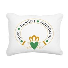 Claddagh Ring -- Rectangular Canvas Pillow