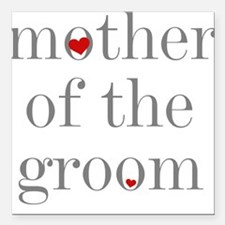 """GREYMOTHERGROM.png Square Car Magnet 3"""" x 3"""""""