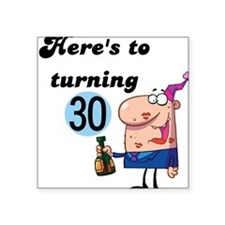 "CHEERSTO30.png Square Sticker 3"" x 3"""