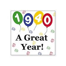 "1940birthdayballoon.png Square Sticker 3"" x 3"""
