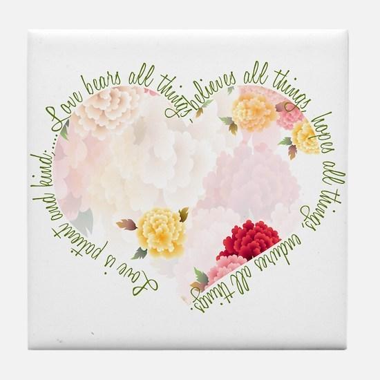 Love is Patient Tile Coaster