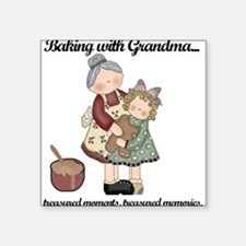"""BAKINGWITHGRANDMAtee.png Square Sticker 3"""" x 3"""""""