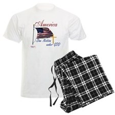 America One Nation Under God Pajamas