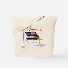 America One Nation Under God Tote Bag