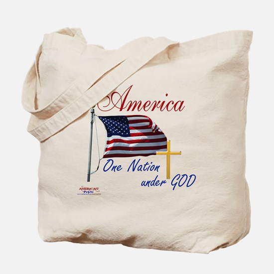America One Nation Under God Tote Bag