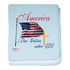 America One Nation Under God baby blanket
