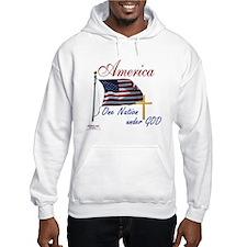 America One Nation Under God Hoodie