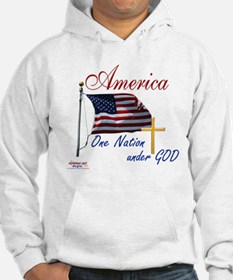 America One Nation Under God Hoodie