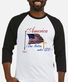 America One Nation Under God Baseball Jersey