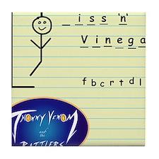 _iss and Vinegar Album cover Tile Coaster