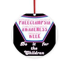 Preeclampsia Awareness Week t-shirt Ornament (Roun