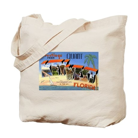 Key West Florida Greetings Tote Bag