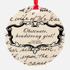 Obstinate Elizabeth Bennett Ornament