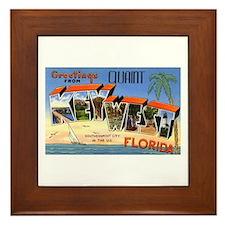 Key West Florida Greetings Framed Tile