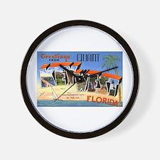 Key West Florida Greetings Wall Clock