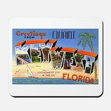 Key West Florida Greetings Mousepad