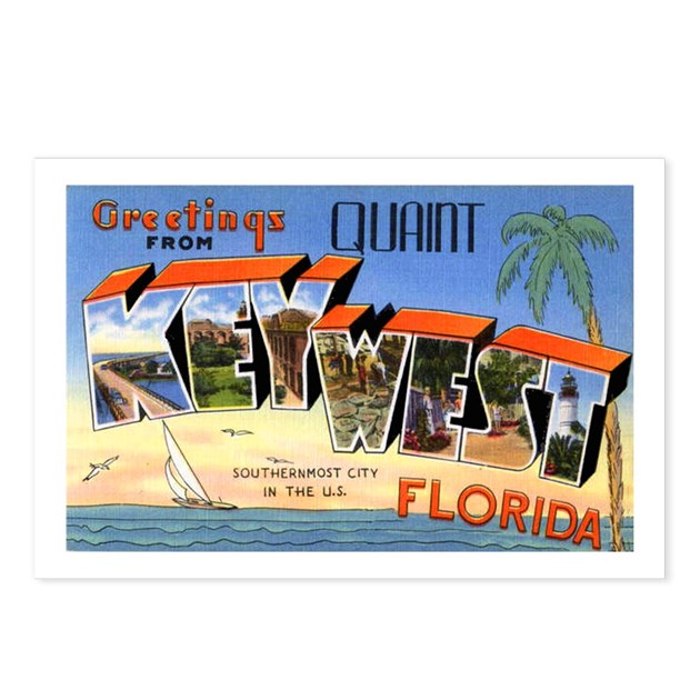 Key West Florida Greetings Postcards Package Of 8 By W2arts