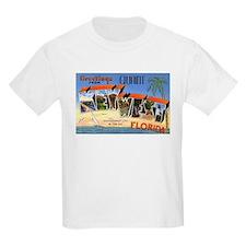 Key West Florida Greetings (Front) Kids T-Shirt