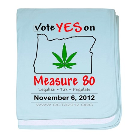 Vote YES on Oregon Measure 80 baby blanket