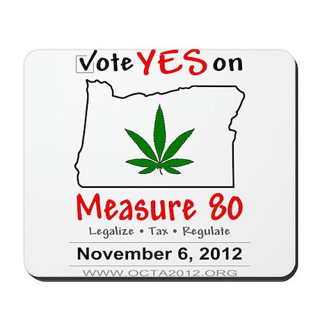 Vote YES on Oregon Measure 80 Mousepad