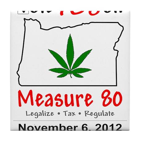 Vote YES on Oregon Measure 80 Tile Coaster
